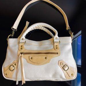 Sabina Boho Chic 💯 Leather 2-Tone Shoulder Bag EC